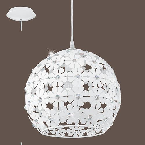 Светильник подвесной 92283 EGLO Hanifa 1х60Вт Е27 белый/метал.