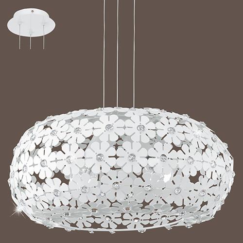 Светильник подвесной 92284 EGLO Hanifa 2х60Вт Е27 белый/метал.