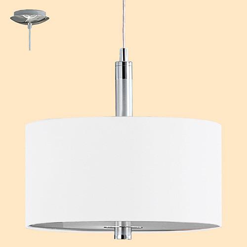 Светильник подвесной 88562 EGLO Halva 3х60Вт E27 бежевый/хром.
