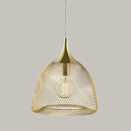 Подвесной светильник  Markslojd Grid 105979 1х60Вт E27 золото/металл