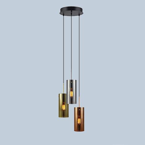 Подвесной светильник  Markslojd Storm 106072 3х40Вт E27 стекло/бронза