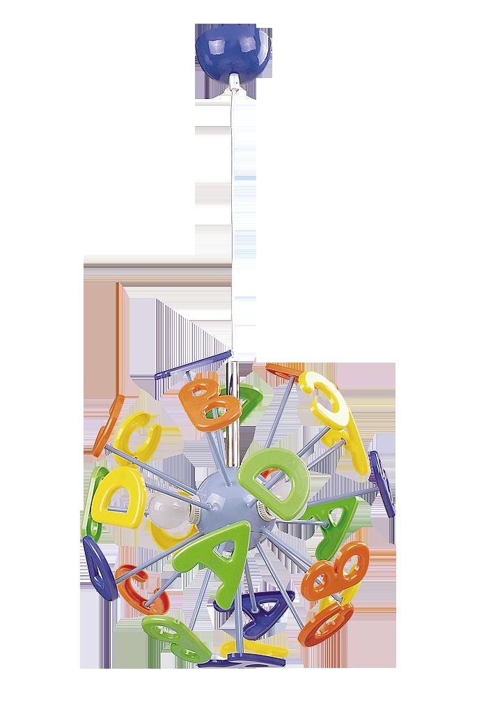 Детская подвесная люстра Rabalux Abc 4716 3х40Вт Е14 цветной/металл