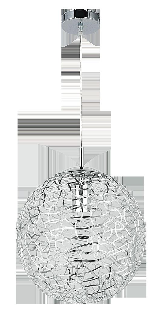 Подвесной светильник Rabalux Adria 6100 1х60Вт Е27 серебро/металл