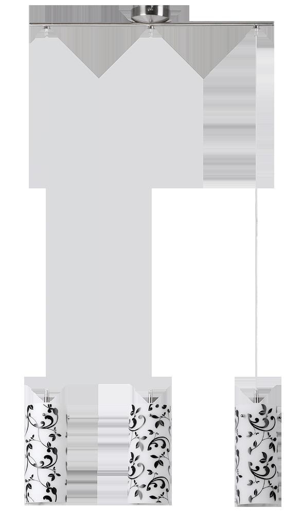 Подвесной светильник Rabalux Blossom 6395 3х60Вт E27 белый/металл
