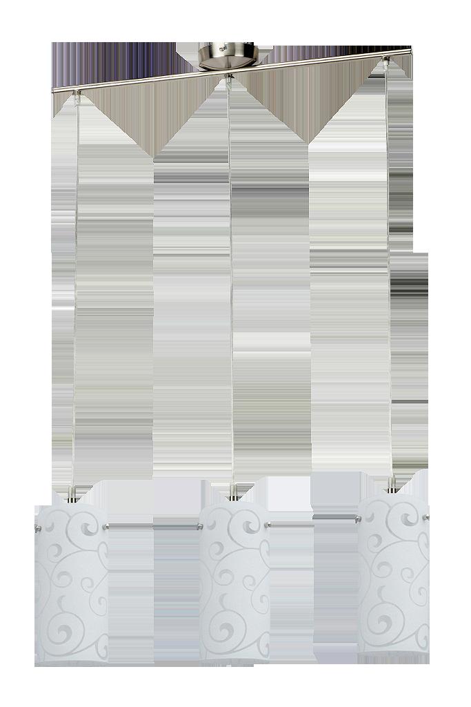 Подвесной светильник Rabalux Harmony lux 6392 3х60Вт Е27 серебро/металл