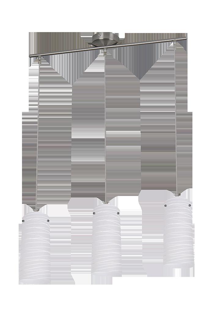 Подвесной светильник Aurel 6338 3х60Вт Е27 серебро/металл