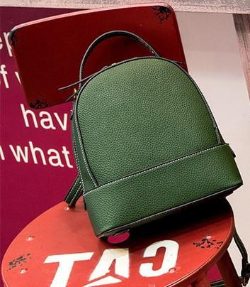81bf37fe1d69 Кожаный рюкзак-сумка женский зеленый , цена 1 114,20 грн., купить в Киеве —  Prom.ua (ID#806940928)