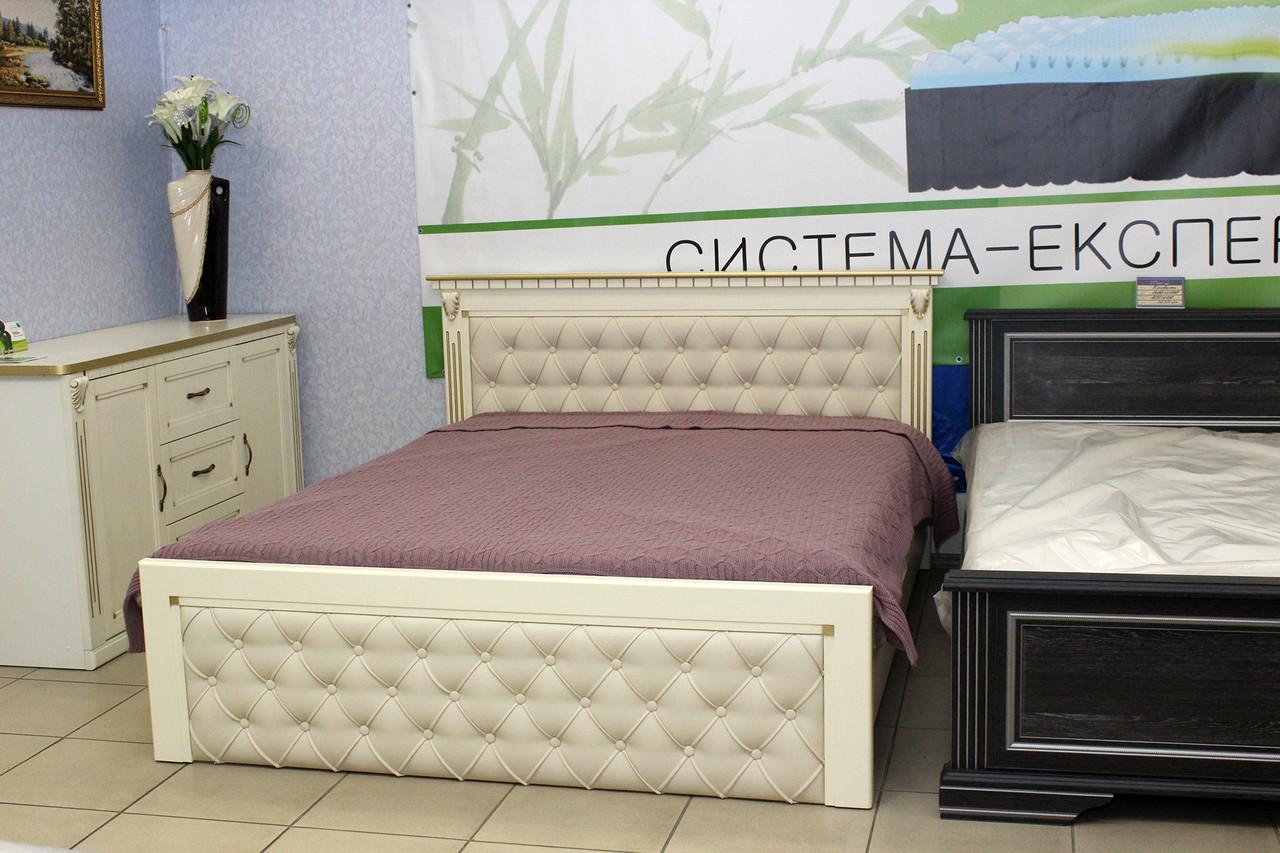 Дерев'яне двоспальне ліжко
