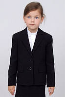 Пиджак школьный для девочки м-744  рост 122-164 черный