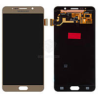 Дисплей Samsung Galaxy Note 5 N9200, N920C, N920F Оригинал с сенсорным стеклом Золотой