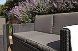 Набор садовой мебели Allibert Monaco set серый, фото 3