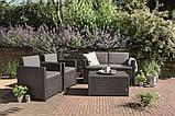 Набор садовой мебели Allibert Monaco set серый, фото 2