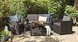 Набор садовой мебели Allibert Monaco set серый, фото 5