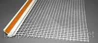 Профиль оконный примыкающий пластиковый с сеткой 2,4 м/п