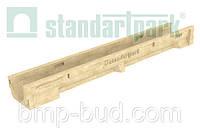 Лоток водоотводной CompoMax Basic ЛВ–10.14.10-П полимербетонный 7030