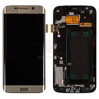 Дисплей Samsung Galaxy S6 EDGE G925F Оригинал с сенсорным стеклом и рамкой Бронзовый