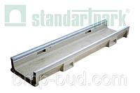 Лоток водоотводной CompoMax Basic ЛВ–20.24.10-ПВ полимербетонный с вертикальным водоотводом 753009