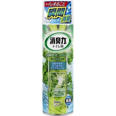 """Освежитель-спрей воздуха для туалета """"SHOUSHUURIKI"""" яблочный 330 мл (112296), фото 2"""