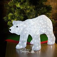 """Медведь светящийся """"DADDY"""", 80 см, уличный, акрил, 270 холодных белых LED ламп (Kaemingk)"""