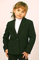 Пиджак школьный для девочки м-744  рост 122-164 зеленый, фото 1