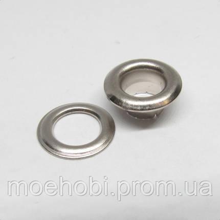 Люверсы (5мм, №3) никель, 10шт 5043, фото 2