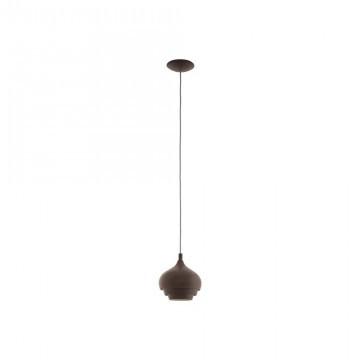Светильник подвесной Eglo CAMBORNE 97215 коричневый/металл