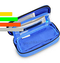 Термочехол для инсулина 2 в 1 со встроенным термометром синий, фото 3
