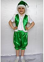 Премиум! Гномик Зеленый Карнавальные Костюмы для мальчика, Комплектация 3 Элемента, Размеры 3-6 лет, Украина