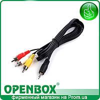 Кабель 3RCA - mini Jack для подключения к ТВ ресиверов Openbox S3 Mini, S3 Mini, S3 Micro, A4, A4 Pro