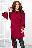 Трендовое женское пальто oversize красного цвета, фото 2