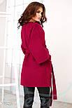 Трендовое женское пальто oversize красного цвета, фото 3