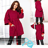 Трендовое женское пальто oversize красного цвета, фото 4
