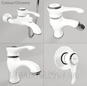 Смеситель для ванной Emmevi TIFFANY бел-хр б/акс BC6001, фото 2