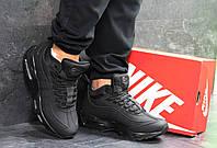 Мужские зимние кроссовки Nike 95 6693 черные, фото 1