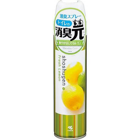 """Освежитель-аэрозоль для туалета «Fresh Lemon»""""Shoshugen"""" 280 мл (36327), фото 2"""