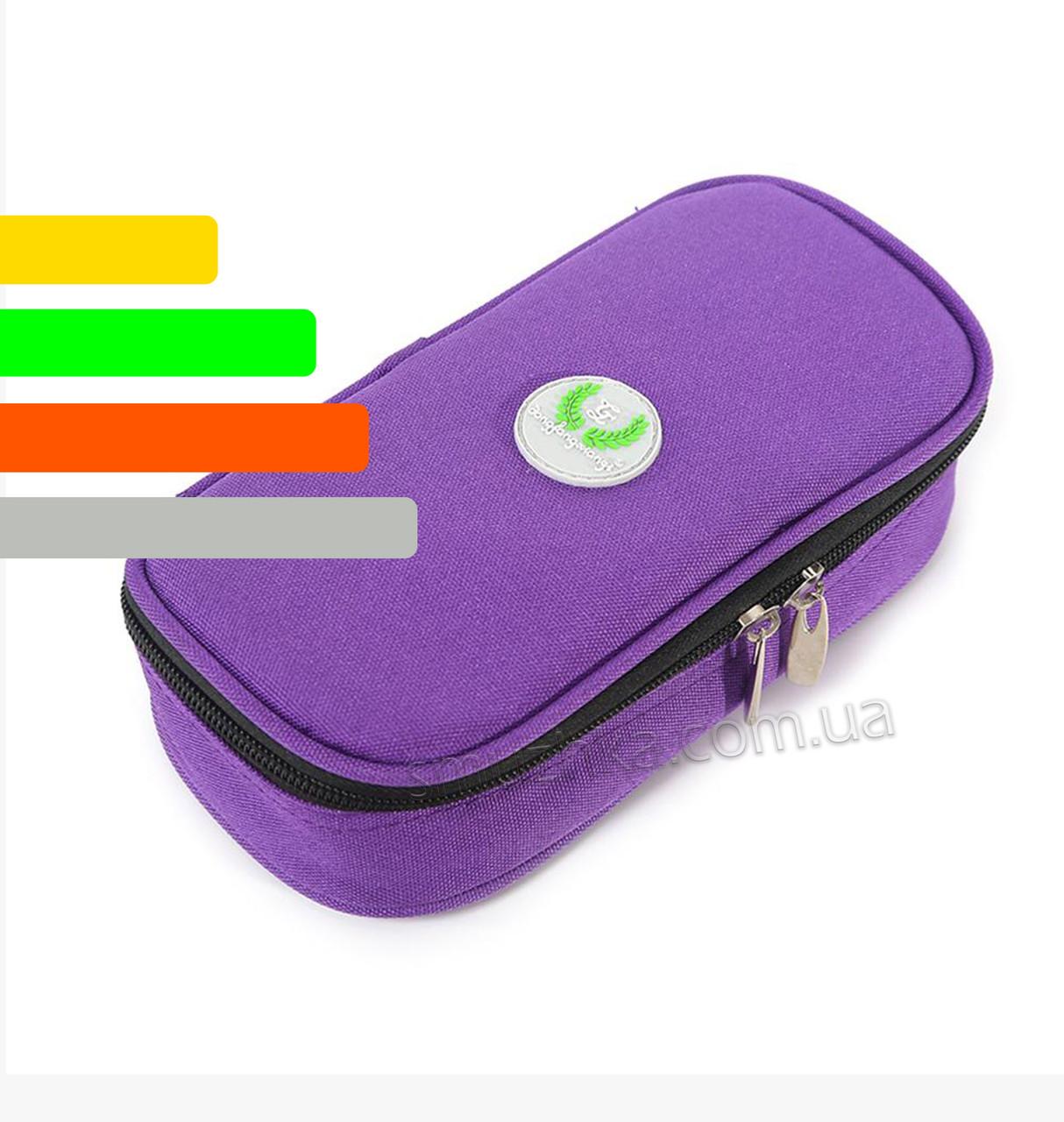 Чехол для хранения инсулина с термометром +4 до +24°C фиолетовый
