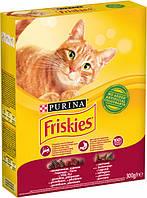 Сухой корм  ФРИСКИС для кошек говядина курица/овощи 0,3 кг (Friskies)