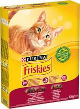 Сухий корм ФРИСКИС для кішок яловичина курка/овочі 0,3 кг (Friskies)