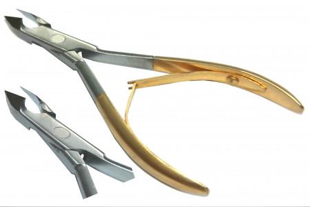Кусачки заусеничные золотые Zauber арт.02-288G