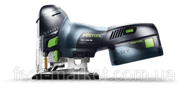 Аккумуляторный маятниковый лобзик PSC 420 Li 5,2 EB-Plus CARVEX Festool 574709