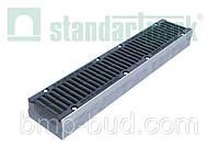 Лоток BetoMax Drive ЛВ–15.21.10–Б бетонный с решеткой щелевой чугунной ВЧ кл.D (комплект) 04227134