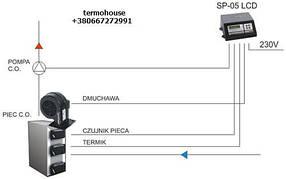 Автоматика для управления турбиной для твердотопливного котла KG Electronik SP-05LED, фото 2