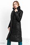 Теплое стеганное пальто черного цвета, фото 2