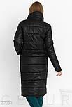 Теплое стеганное пальто черного цвета, фото 3