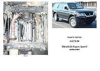 Защита на двигатель, КПП, радиатор для Mitsubishi Pajero Sport 1 (2000-2008) Mодификация: 3,0 МКПП Кольчуга 1.0517.00 Покрытие: Полимерная краска