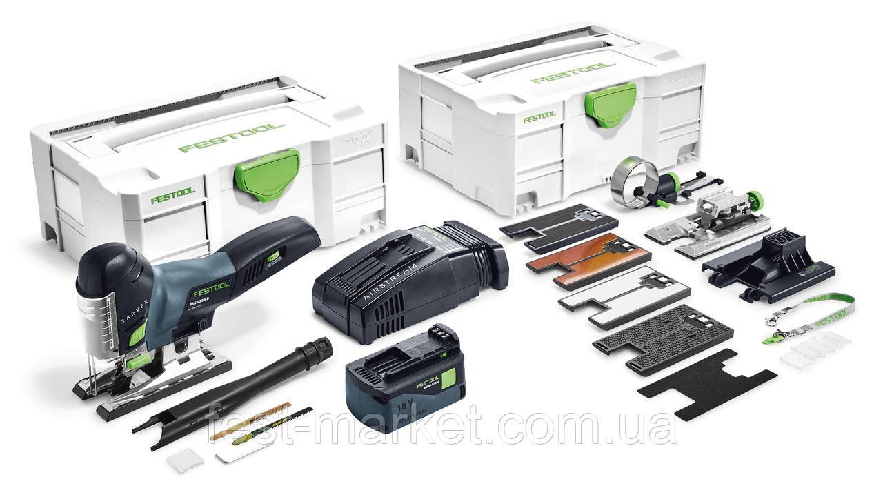 Аккумуляторный маятниковый лобзик PSC 420 Li 5,2 EBI-Set CARVEX Festool 575743