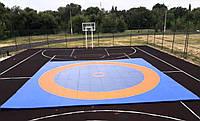 12м х 12м борцовский ковер  с олимпийскими кругами, изготовление борцовских ковров