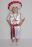 Премиум! Мухомор Детские Новогодние Костюмы, Комплектация 4 Элемента, Размеры 3-6 лет, Украина