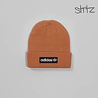 Шапка Adidas Originals Fisherman Beanie, зимняя теплая, цвет оранжевый, фото 1