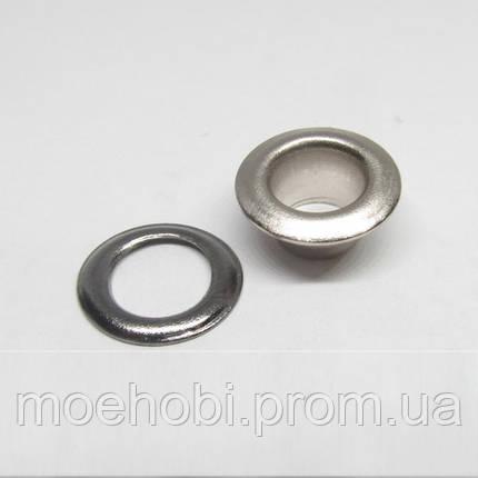 Люверсы (6мм, №4) никель, 10шт 5040, фото 2